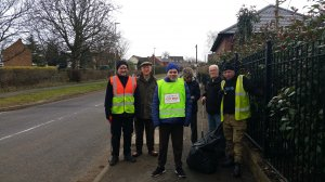 Another successful day litter picking in Scraptoft