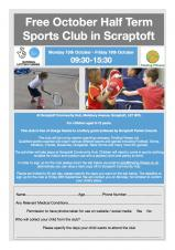 Free October Half Term Sports Club in Scraptoft Monday 15 October - Friday 19 October 9.30am-3.30pm
