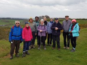 Onwards and upwards for Scraptoft Walkers on Burrough hill