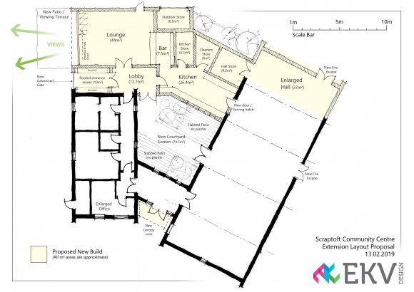 Proposed extension to Scraptoft Community Hub